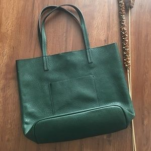 Street Level TWO Totes Oversize Green & Blue